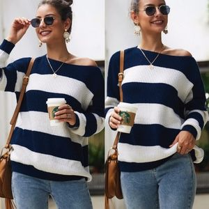 AVERY Color Block Knit Sweater